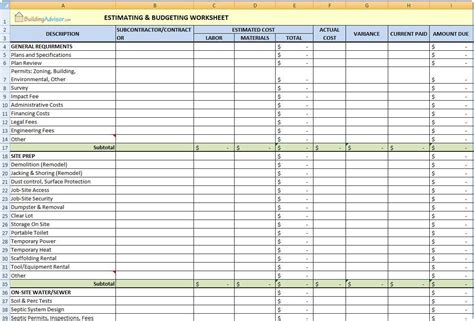 renovation planner template home renovation budget spreadsheet template budget
