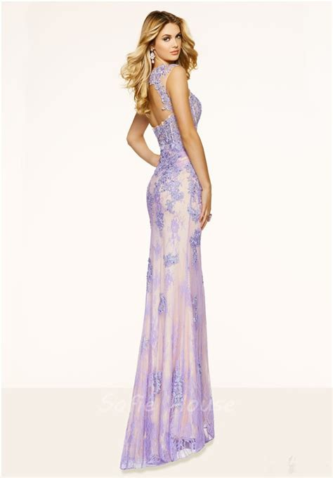 beaded mermaid prom dress mermaid sweetheart open back lilac lace beaded