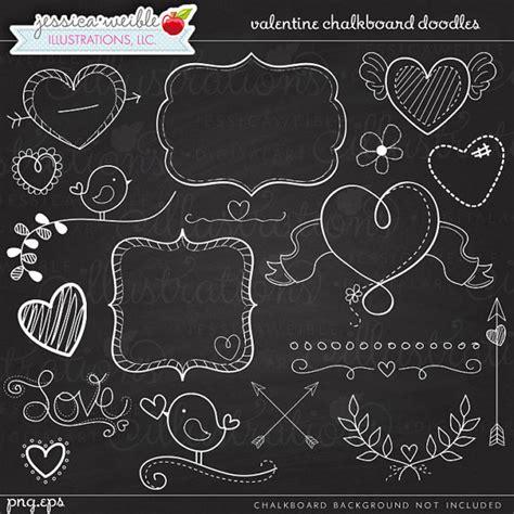 free doodle board chalkboard doodles digital clipart commercial