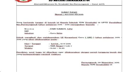 rekomendasi surat tugas ukg 2015 docs contoh file guru