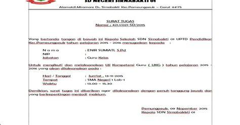 rekomendasi surat tugas ukg 2015 docs contoh