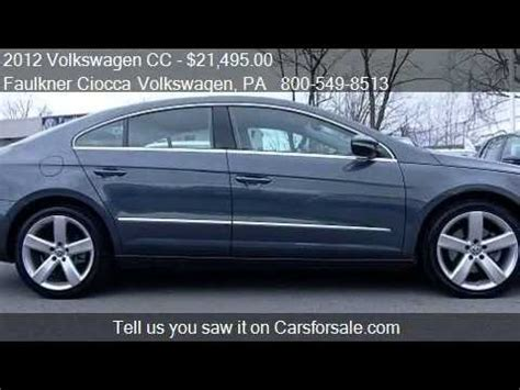 faulkner volkswagen allentown 2012 volkswagen cc limited pzev for sale in
