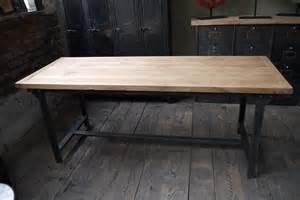 plateau chene massif pour table table ou bureau metal industriel militaire plateau chene