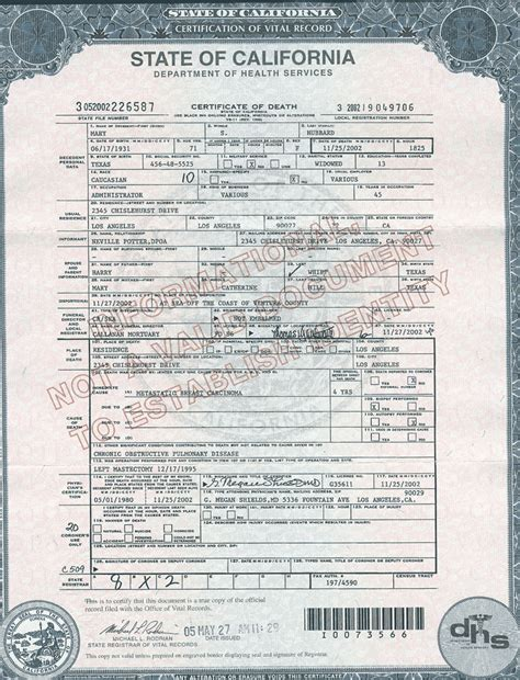 State Birth Records Birth Certificate California