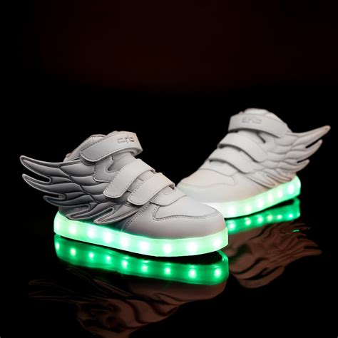 cool sneakers for led shoes for 2016 new arrival fashion cool wings
