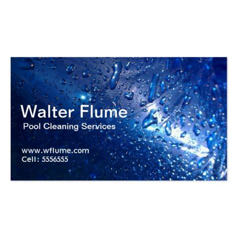 pool business card templates pool cleaning business card zazzle