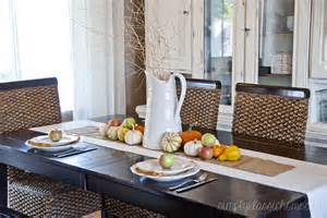 Fall Dining Room Table Decorating Ideas Fall Dining Room And Tablescape Yellow Bliss Road