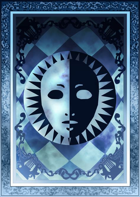 persona card template persona 3 4 velvet room tarot card deck back hr by