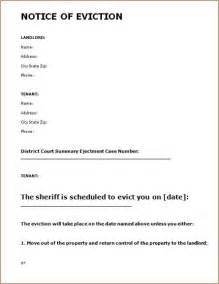 notice of eviction letter template printable sle eviction notice form real estate forms