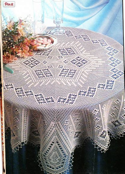 suprahi pattern works pune crochet tablecloth see free pattern and chart to