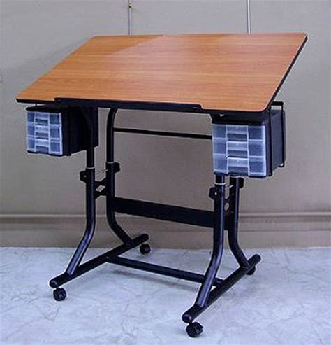 Craft Work Tables by Alvin Craftmaster Craft Work Table Black Base Cherry Top