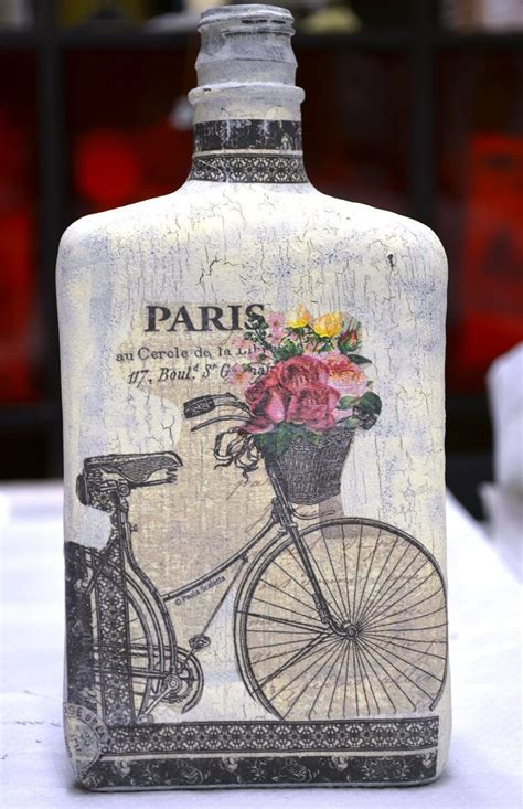 how to decoupage on glass how to decoupage with crackle finish on glass bottle