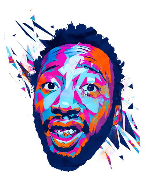 Doodle Colorful Digital Portraits By Artist Mink Couteaux