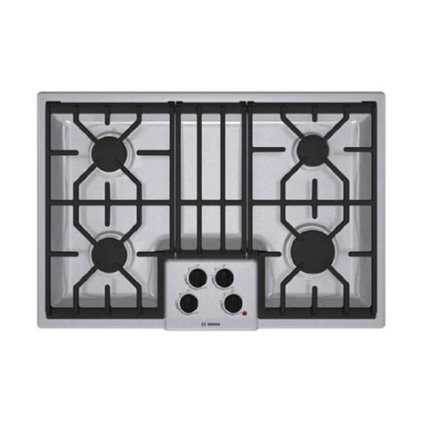 Gas Cooktop Sale bosch 500 series ngm5054uc 30 gas cooktop with 4 sealed burners stainless steel onsale