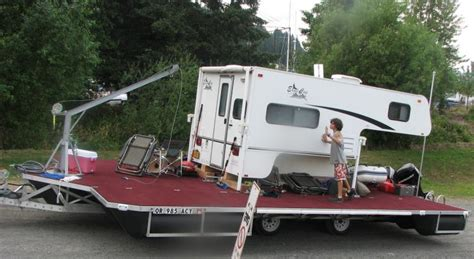 Wrap Around Porch Home Plans floating dock converted into a camper barge