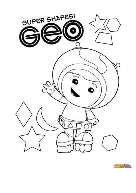geo umizoomi coloring page coloring page team umizoomi geo ready to party pinterest