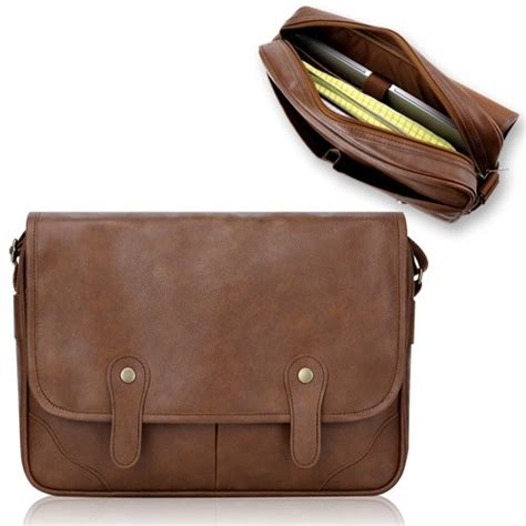 duzign rover messenger bag light brown for 13 inch