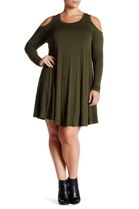 Vanity Clothing Locations by Vanity Room Cold Shoulder Knit Dress Plus Size