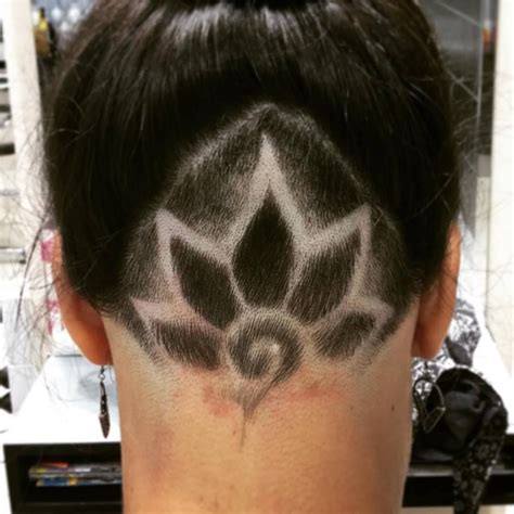undercut tattoo flower designs hair only at moda fusion https www