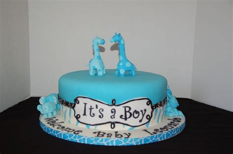 Blue Safari Baby Shower Cake by Blue Safari Baby Shower Cakes Www Imgarcade