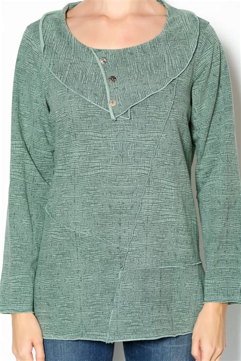 color me cotton color me cotton three button collar tunic from ta by