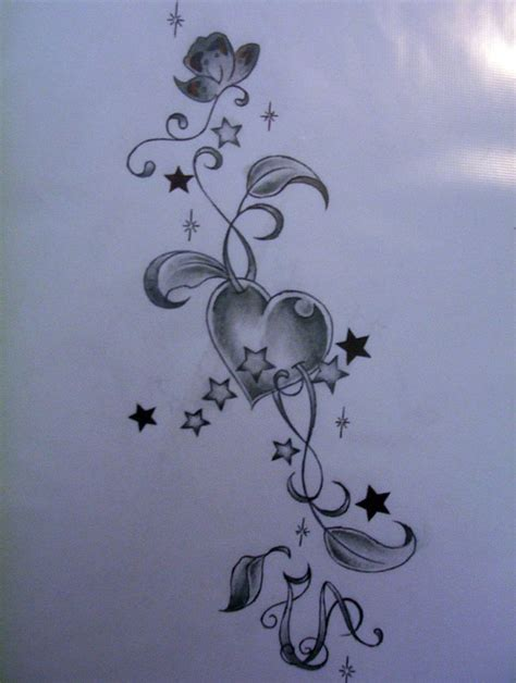 stars and heart tattoos designs and small a
