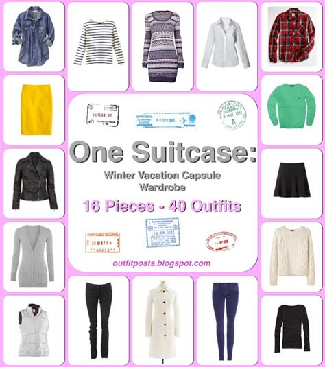 Vacation Capsule Wardrobe by Posts One Suitcase Winter Vacation Capsule Wardrobe