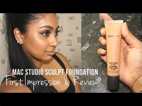 mac studio sculpt foundation: first impression & review