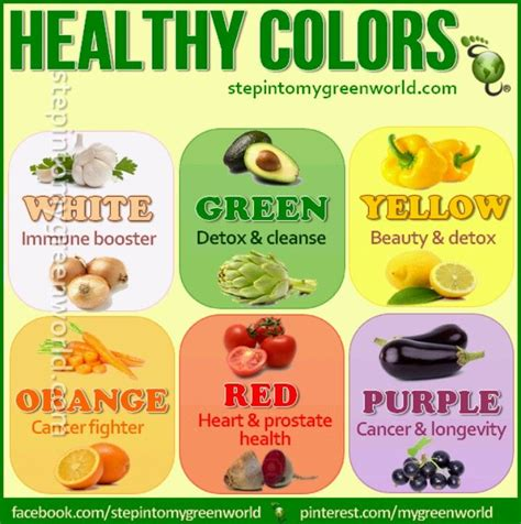 healthy colors healthy food colors fitness pinterest