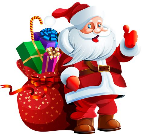 Santa Claus with Big Bag PNG Clipart   Best WEB Clipart