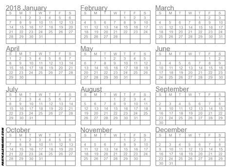 1 year calendar 2018 tempss co lab co