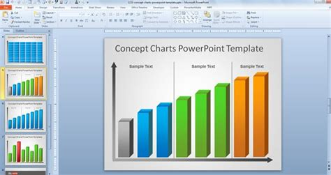 template chart powerpoint free creative bar chart powerpoint template