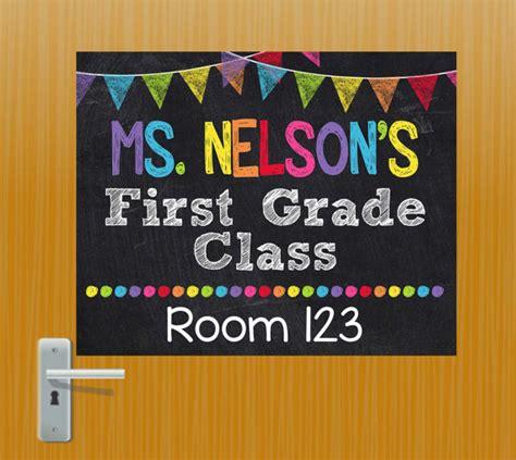 classroom door signs templates door sign personalized sign classroom door