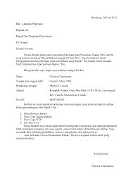 Guarantee Letter Bahasa Indonesia Cover Letter Bahasa Indonesia Cover Letter Templates