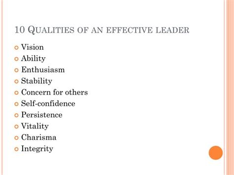 a way out 10 characteristics of highly successful books ppt what characteristics make an effective leader