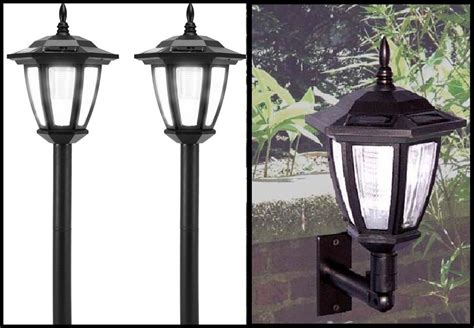 Solar Garden L Post Lights Outdoor Solar Lights Post Landscape Or Wall Mount Led