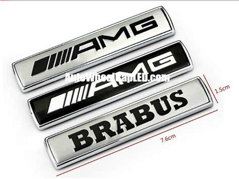Emblem Brabus Mercedes Metal Grill 2 mercedes amg brabus metal chrome silver black sides fenders letters emblems badges 2pcs set