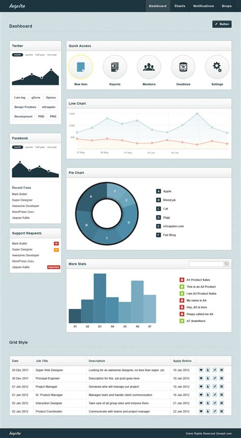 backend admin template free quot inspire quot backend admin template psd