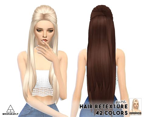 sims 4 hair cc my sims 4 blog clay hair retexture by missparaply