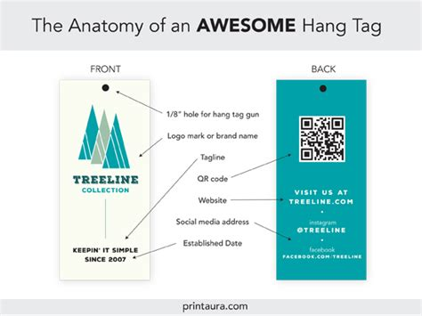 swing tag template anatomy of an awesome clothing hang tag templates