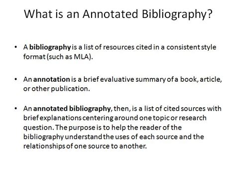 selected bibliography definition annotated bibliography by subject