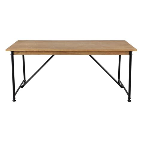 Wood And Metal Dining Tables Mango Wood And Metal Dining Table W 180cm Naturaliste Maisons Du Monde