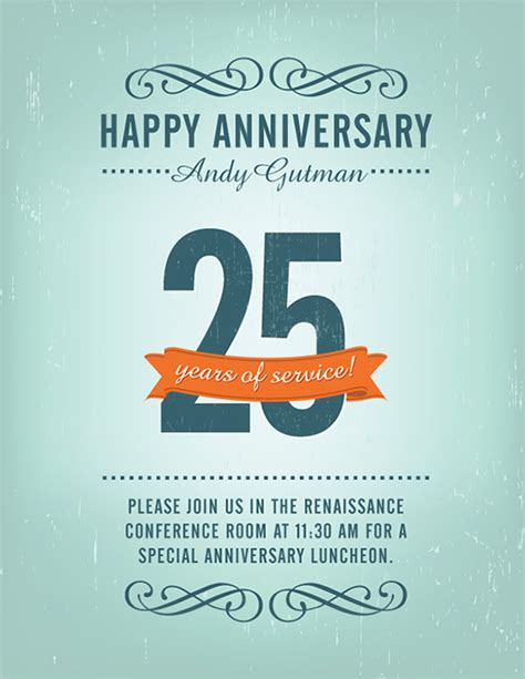 work anniversary card template free 18 best anniversary flyer templates psd designs free