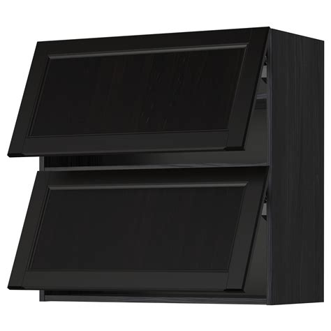 Horizontal Cabinet by Metod Wall Cabinet Horizontal W 2 Doors Black Laxarby