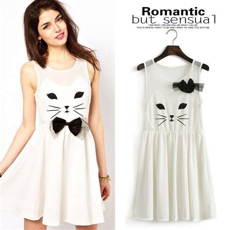 Dress Dress Korea Putih White 1 specials korean sweet princess bow waist vest dress s sleeveless plus size tank