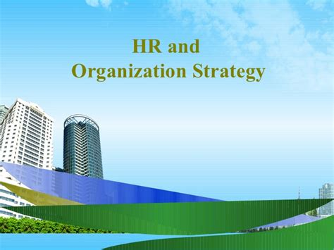 Service Marketing Ppt For Mba by Hr And Organization Strategy Ppt Mba 2009