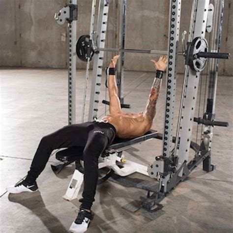 smith machine bench press throw bar throw and press exercise guide and video