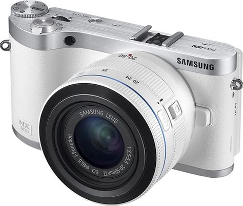 Kamera Digital Samsung samsung nx300 compact system with 20 50mm lens white ev nx300zbfuus best buy