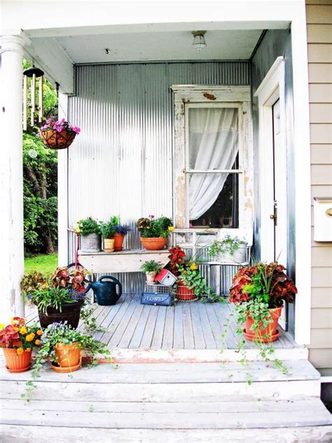 At The Cottage Decorating With - shabby chic decorating ideas for porches and gardens hgtv