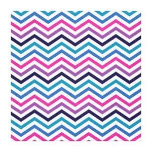 Pink Purple Blue Zigzag Chevron Gallery Wrapped Canvas   Zazzle
